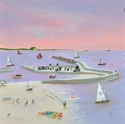 Lilac Light by Lucy Young -  sized 20x20 inches. Available from Whitewall Galleries